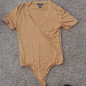 Fashion nova: mustard body suit